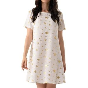 Women's Star Tee Shirt Tunic Stretch Dress